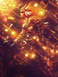 Artemis Primal Huntress Smite by SpiritAJ