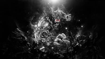 Ravana Tyrant Smite Black and White by SpiritAJ