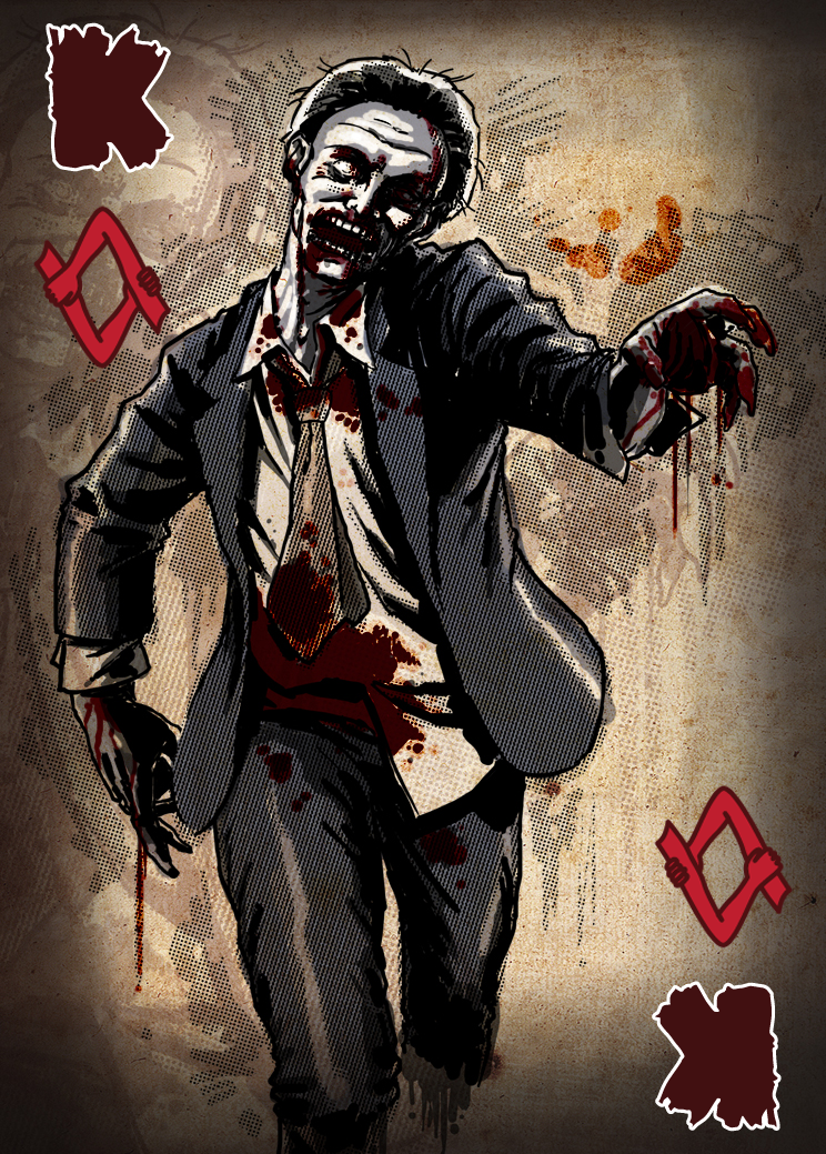 Zombie Card Deck - King by ilinamorato