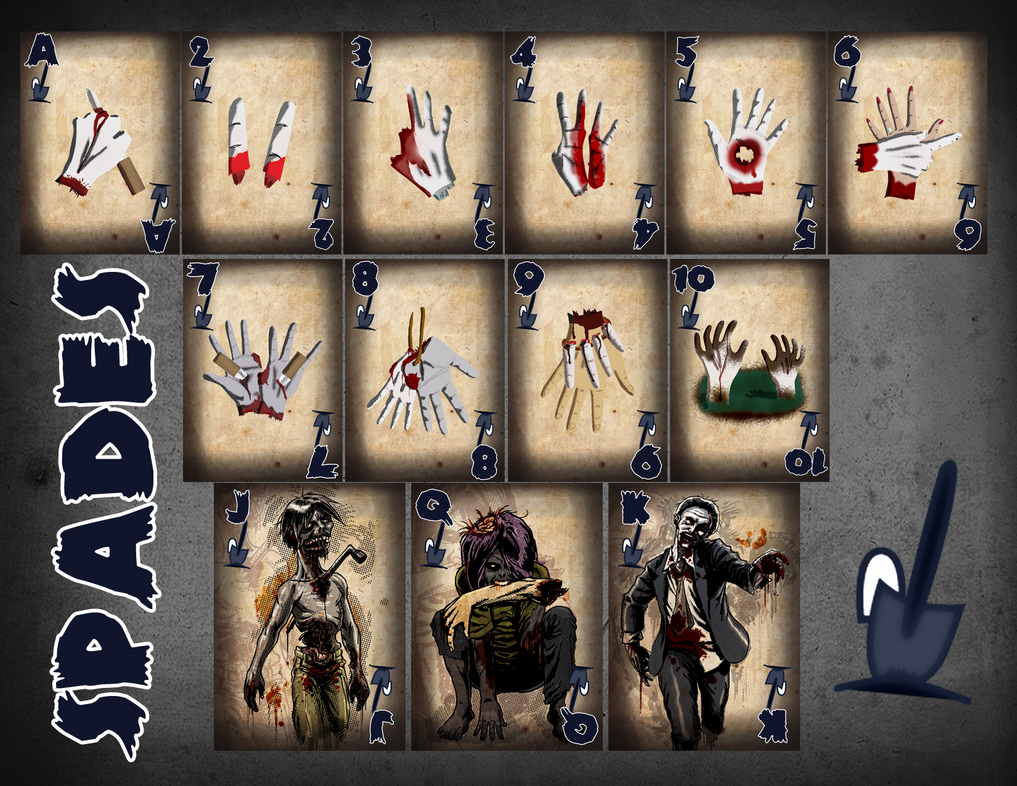 Zombie card deck the spades by ilinamorato on deviantart for Zombie balcony