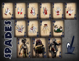 Zombie Card Deck - The Spades