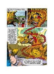 Werewolf vs. Dinosaur by mikegagnon