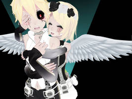 [MMD Pose] Hug From Behind [+DOWNLOAD] by The-Sinister-Panda