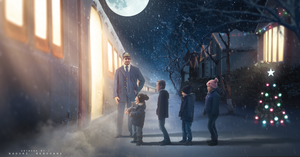 Polar express train is waiting by NaouriRedouane1998