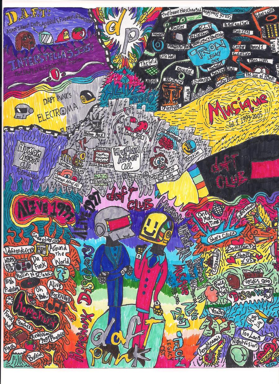 Daft month mural by bradandez on deviantart for Daft punk mural
