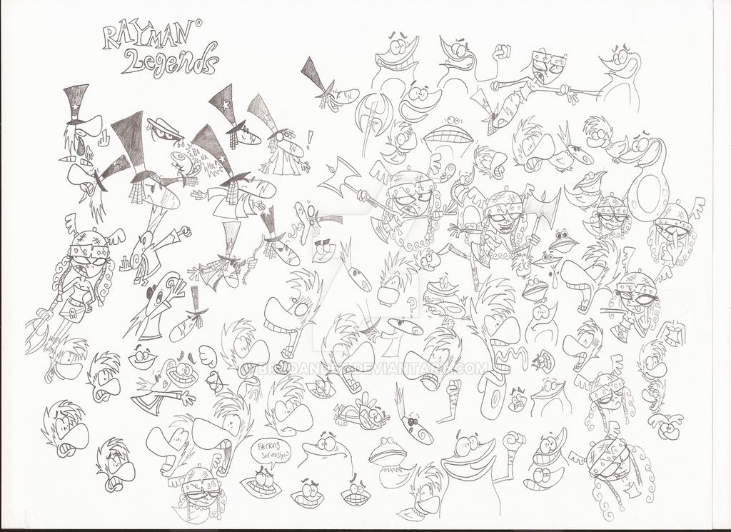 Raymania Sketch Dump by Bradandez