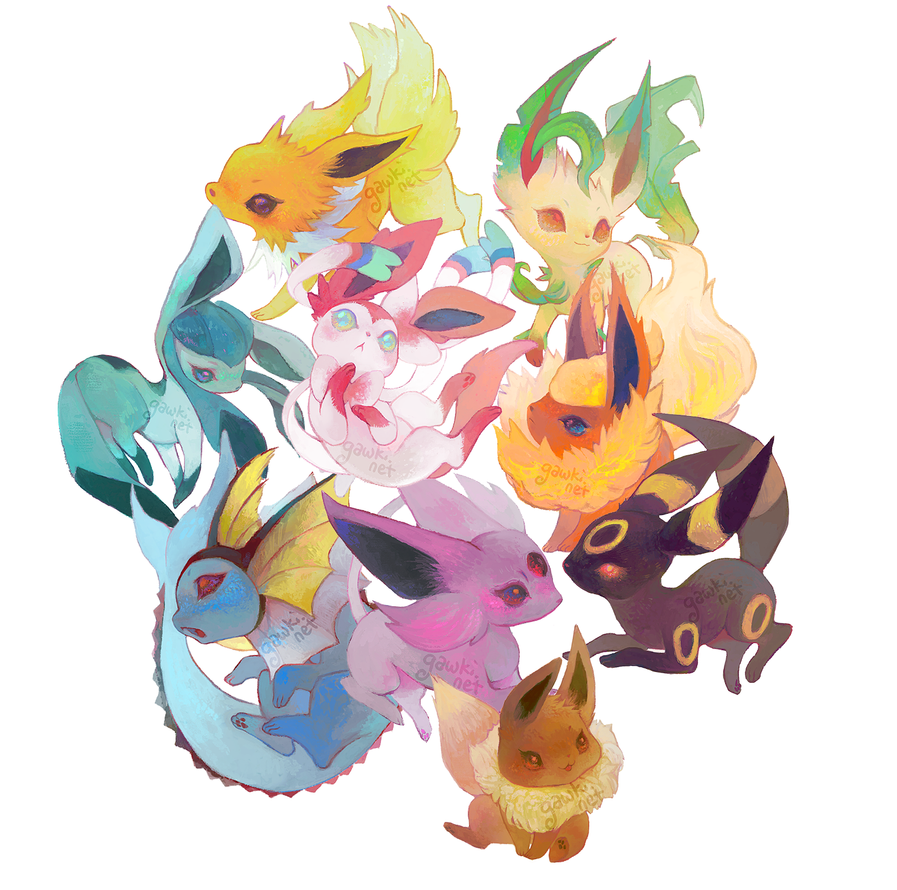 eeveelutions by gawki