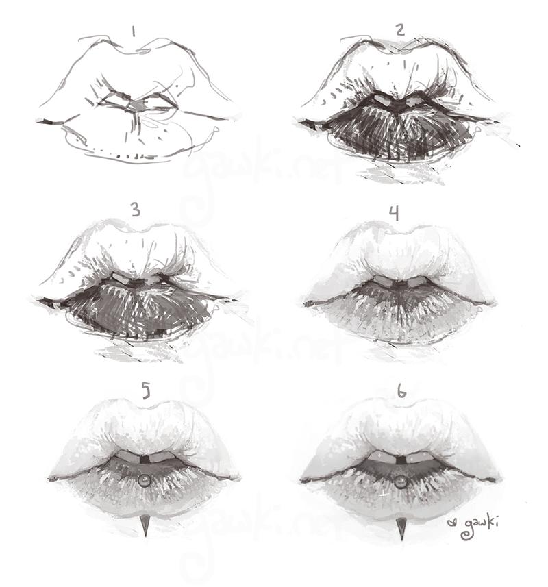 messy lips by gawki