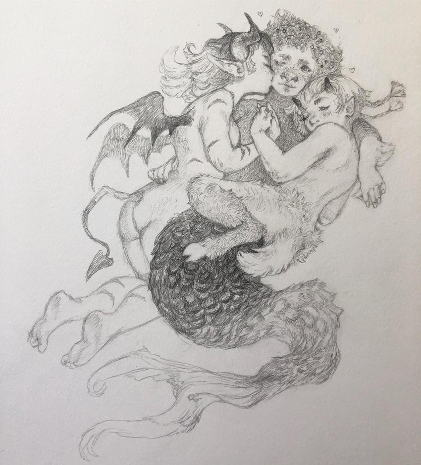 Cuddle Puddle by gawki