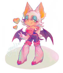 Rouge the Bat by gawki