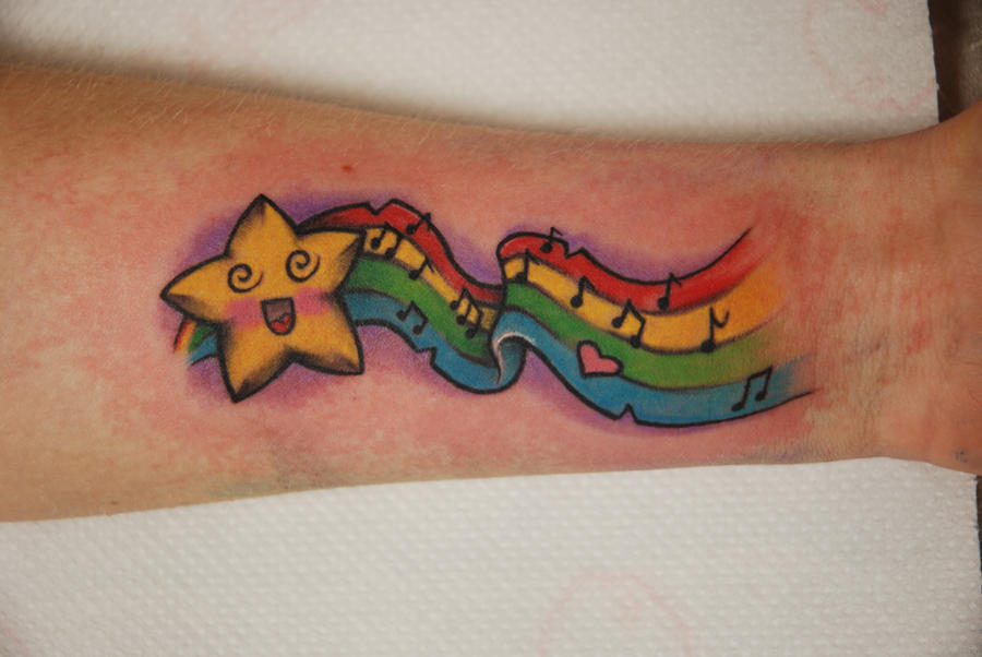 tattoo mad star by larvart