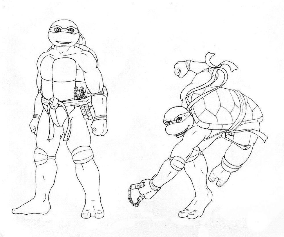 tmnt 2003 michelangelo coloring pages - photo#23