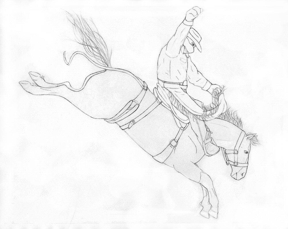 Bronc Drawing
