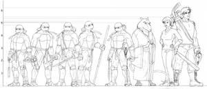 TMNT Height Chart - The Gang
