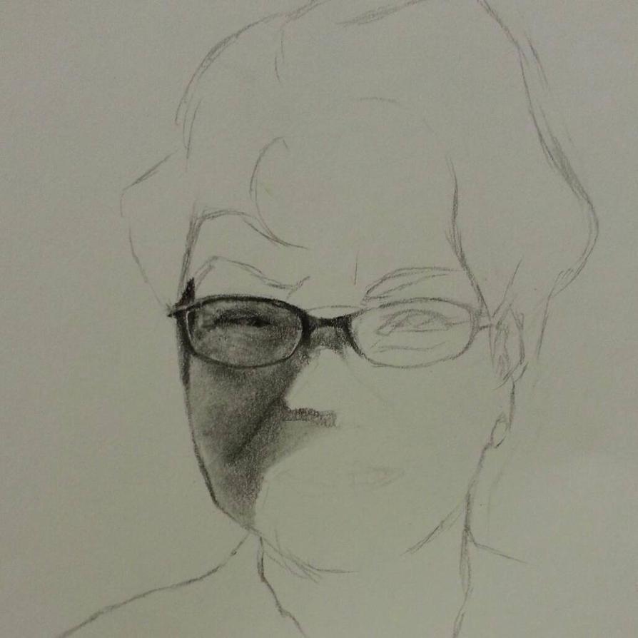 Grandma Portrait wip by dreamstream9