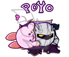 Kirby And Metaknight by Exoskellet