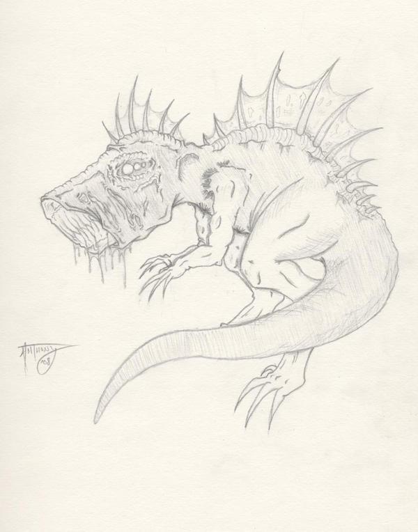 Zombie Dinosaur by shroomstone