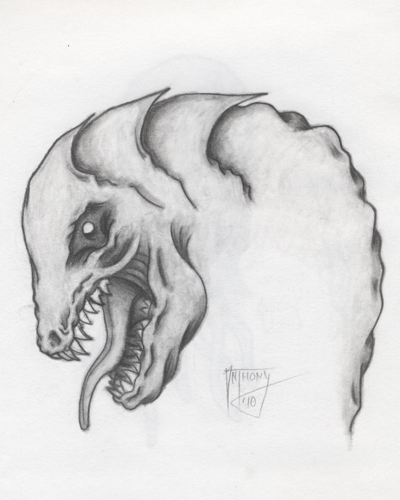 dinosaur creature by shroomstone
