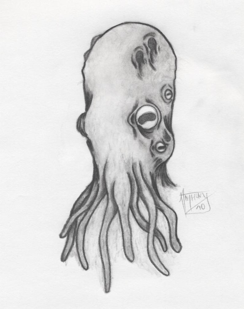 octopus creature by shroomstone