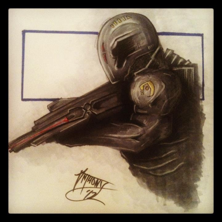 Gun man by shroomstone