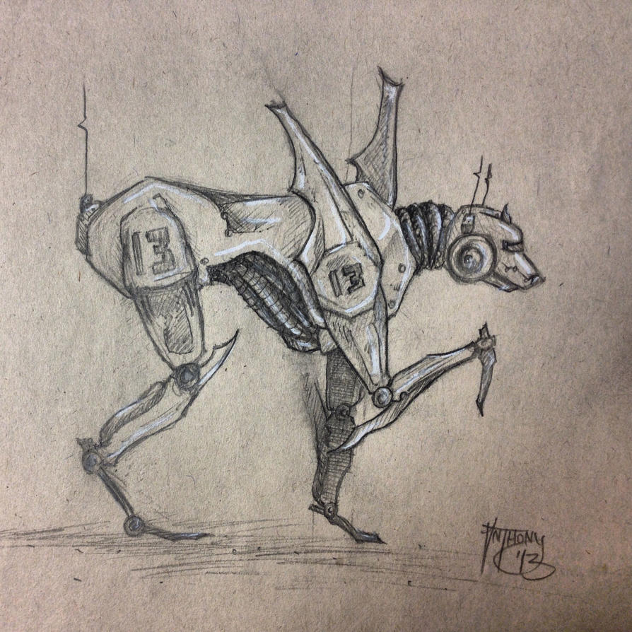 robo-dog by shroomstone