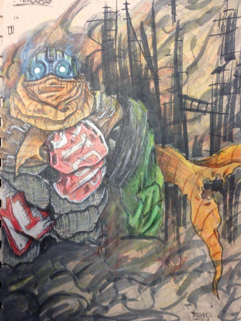 Trashman by shroomstone