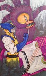 Wolverine likes hamburgers by shroomstone