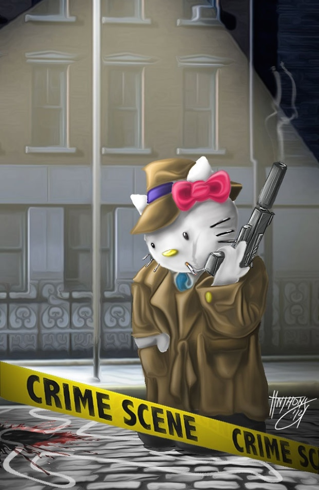 Hello Kitty Detective by shroomstone