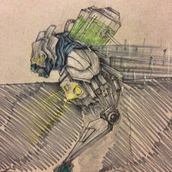 cyborg concept by shroomstone