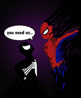 Symbiote vs Spidey by The-Camo-Kid