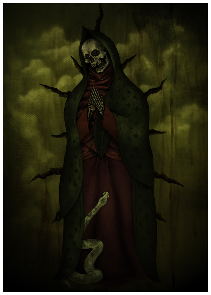 Santa Muerte Paintings Santa virgen, santa muerte by
