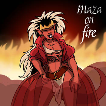 Maza on Fire by DTaina
