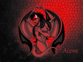 Alone - Desktop - Red