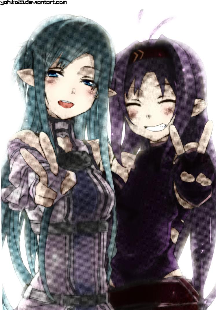 Asuna and Yuuki SAO by Yahiko23