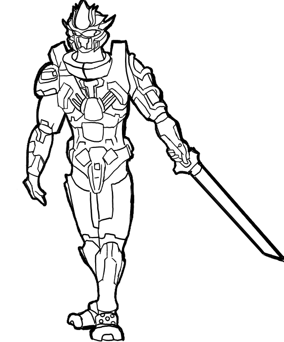 coloring pages halo 3 - photo #36
