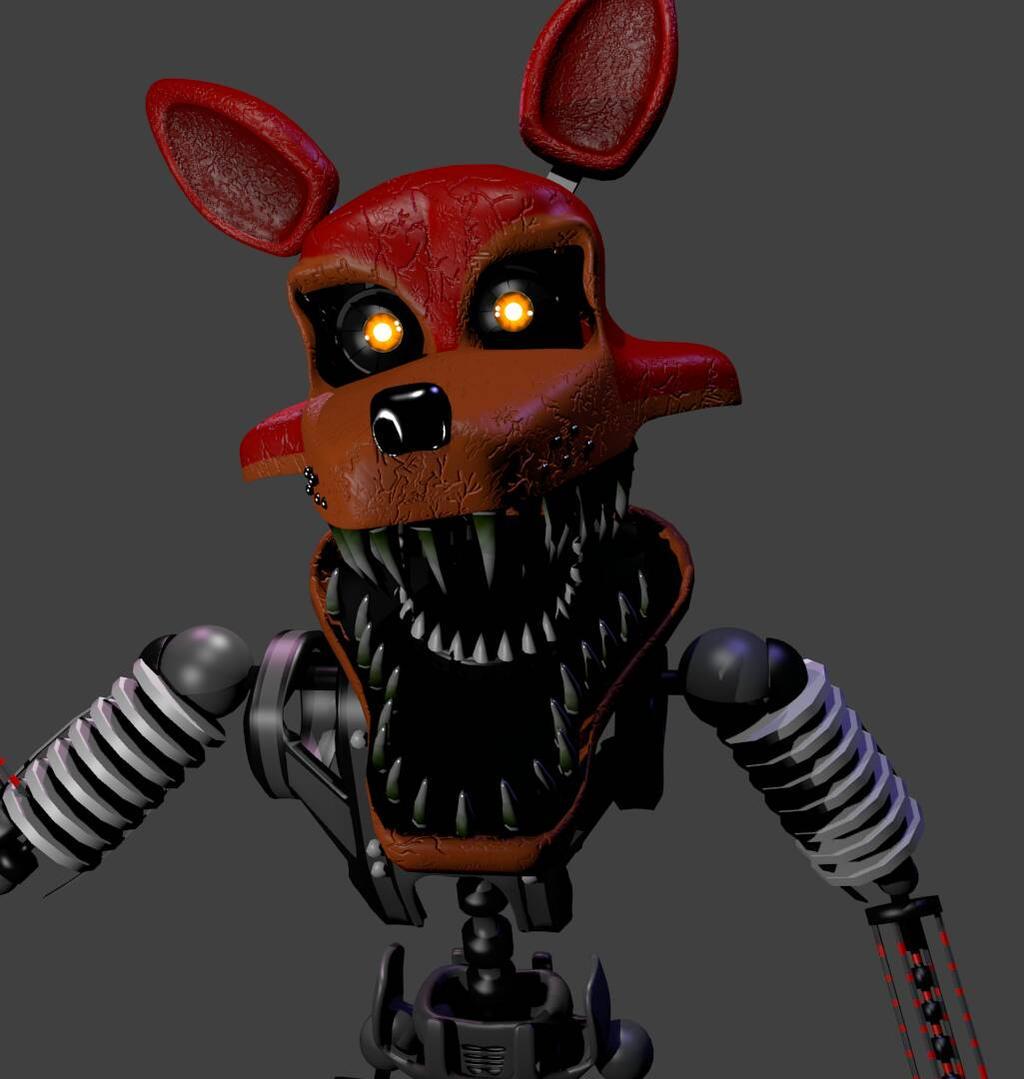 Nightmare Foxy On 3D-FNAF