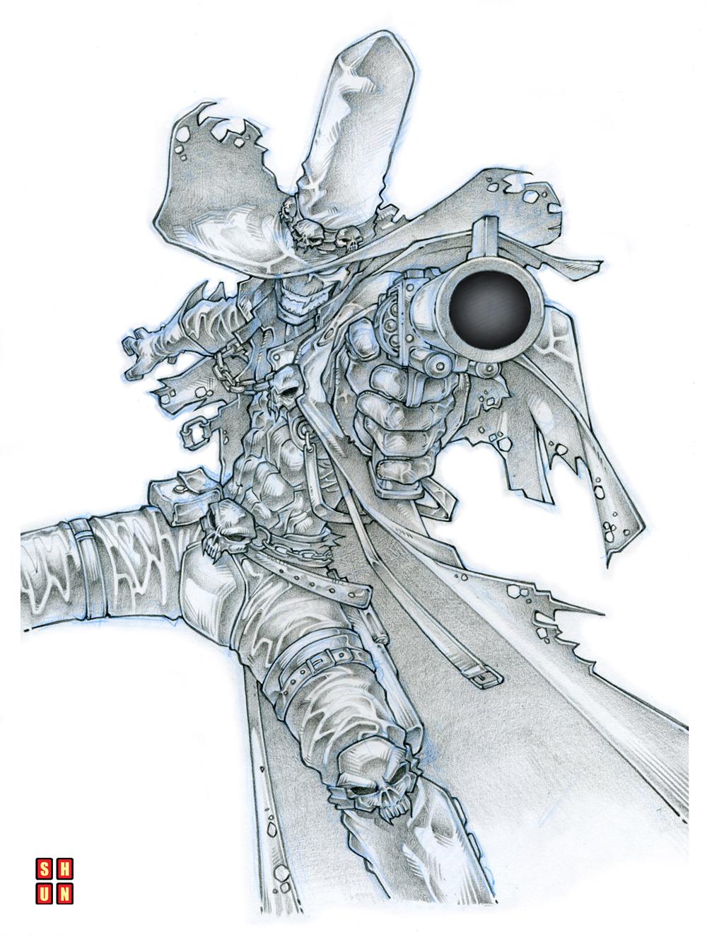 Gunslinger Spawn 001 by Shun-008