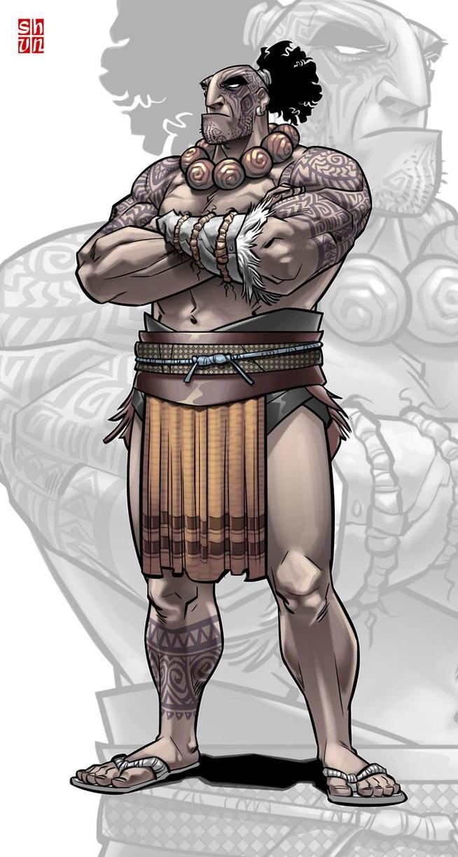 Maori Warrior by Shun-008