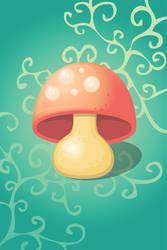 Wonderland Mushroom by ciara-cable