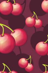 Cherries iPhone background