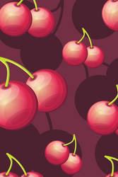 Cherries iPhone background by ciara-cable