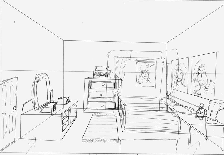 Room 1 1pt perspective by nigzblackman on deviantart for Bedroom 2 point perspective