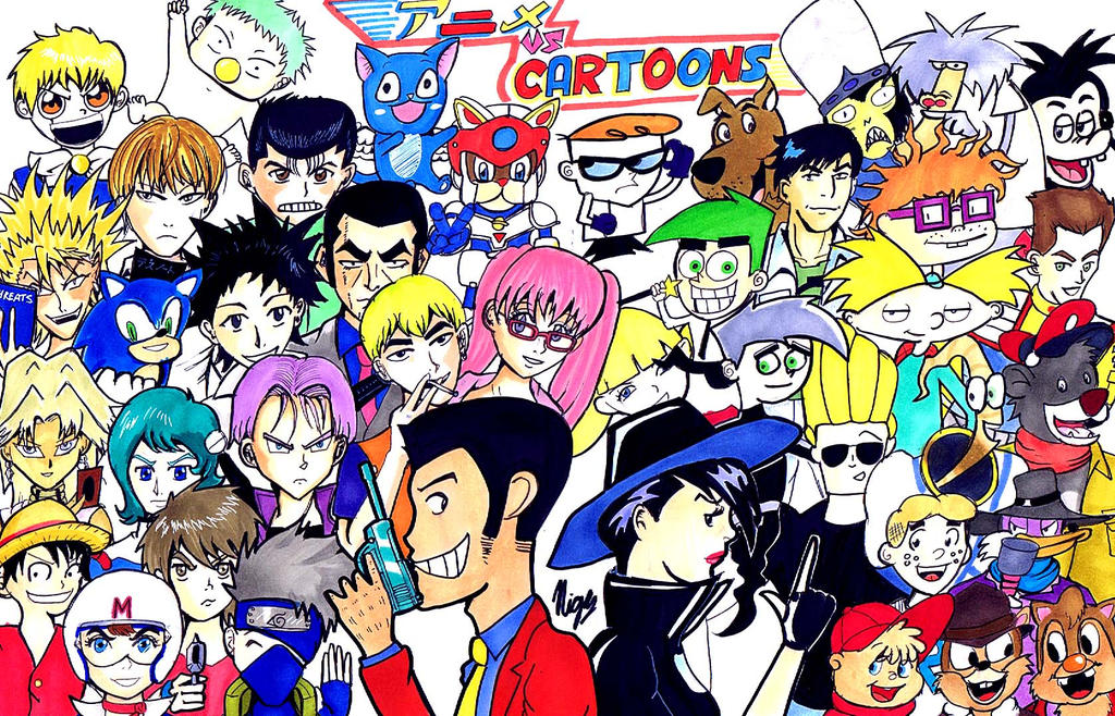 Cartoon vs Anime by Nigzblackman on DeviantArt