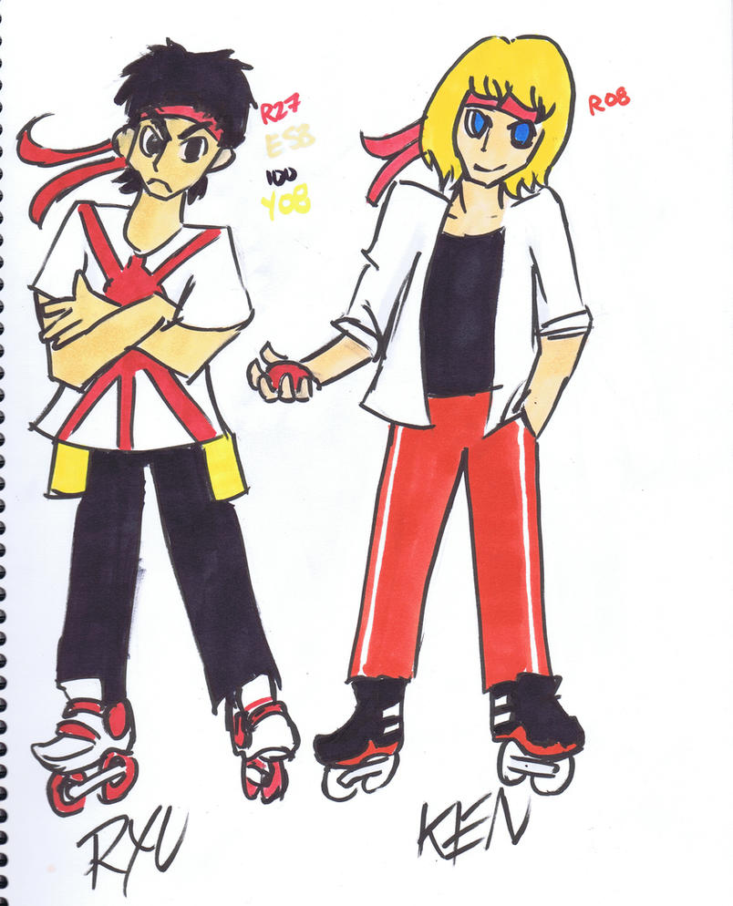 JSR x SF Crossover Concepts Ryu and Ken by Nigzblackman