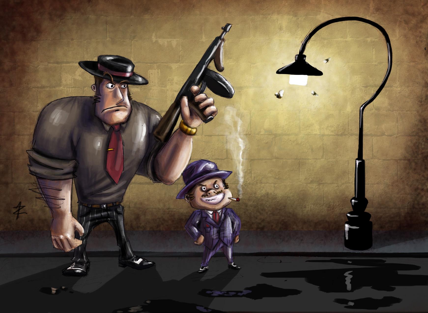 cool cartoon gangster wallpapers