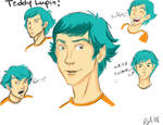 Teddy Lupin Face sketchies