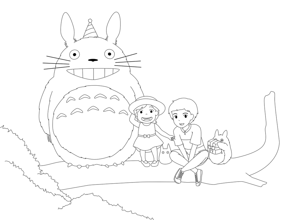 my neighbor totoro coloring pages sketch template coloring