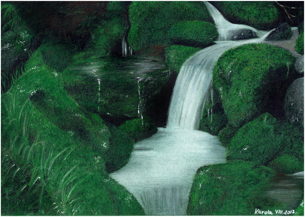 Waterfall by Carolineys