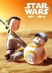 Star Wars fanart Rey and BB-8