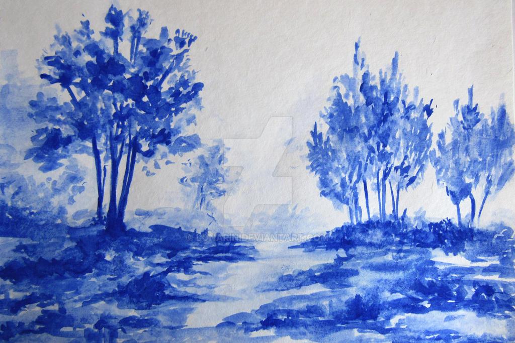 Landscape in blue by lonarin